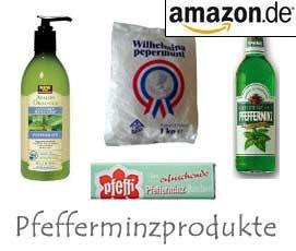 Pfefferminze Produkte